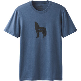 Prana Wolf Pack Journeyman Kurzarm T-Shirt Herren denim heather